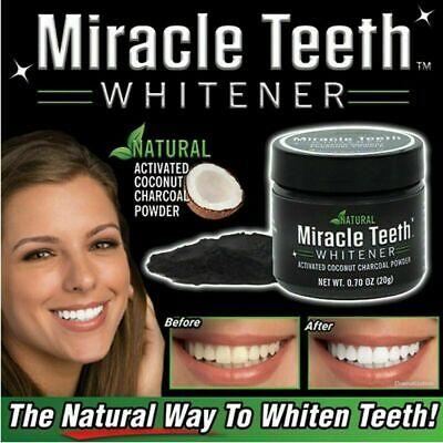 Sbiancante Denti Carbone Attivo In Polvere Biologico Naturale Miracle Teeth cir