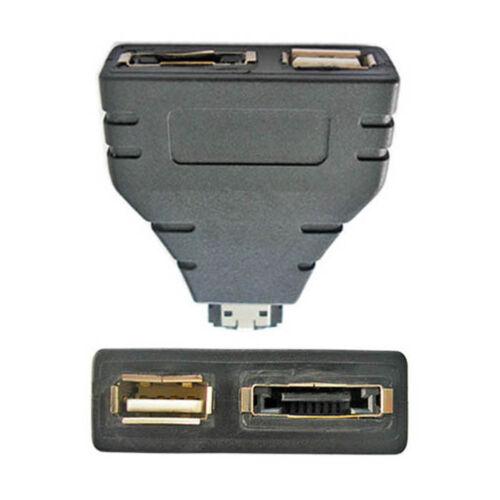 USA Combo Power eSATA USB male to eSATA female & USB female Adapter 1 in 2 new