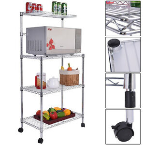 ... Bakers Rack Microwave Oven Stand Storage Cart Workstation Shelf