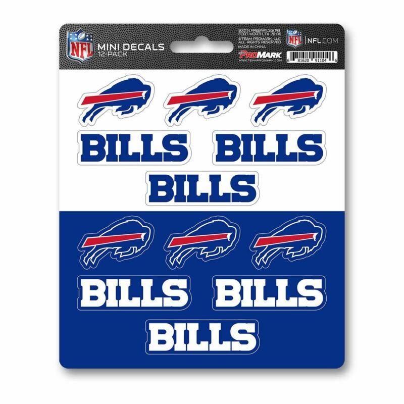 Team Promark Nfl Buffalo Bills Mini Decals 12-pack