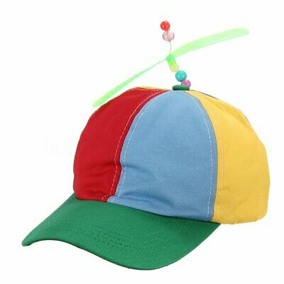 Propeller Hat Helicopter Cap Clown Jester Tweedle Dee Costume Colorful