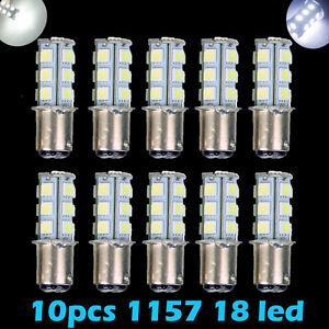 10x Super White T25/S25 1157 Bay15d 18-SMD 5050 LED Tail Brake Stop Light Bulb