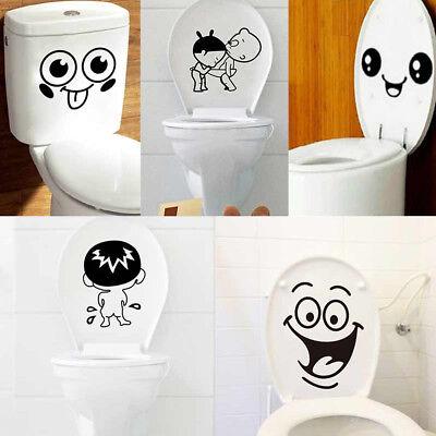 3D Removable Bathroom Decals Decor Toilet Seat Smile for Wall Sticker Vinyl Art (Decor Toilet)