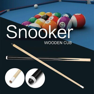 57'' 2-Piece 1/2 Design Wood Jointed Cue Stick Snooker Billiards Pool Sport Kit
