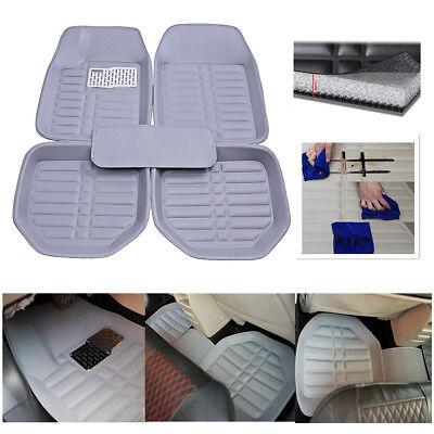 5pcs Car  FloorLiner Front Rear Floor Mats Waterproof  Carpet All Weather Gray