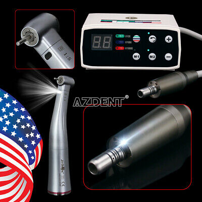 Dental Brushless Led Electric Micro Motor 15 Fiber Optic Handpiece Fit Nsk