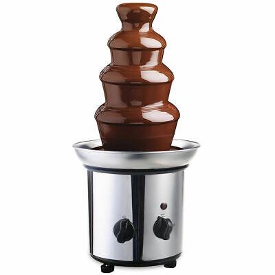 4 Tiers Stainless Steel Hot New Luxury Chocolate Fondue Foun