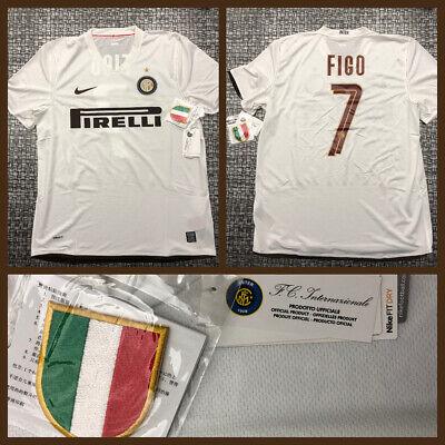 Maglia Shirt Trikot Camiseta Inter Milan 2008/09 NIKE FIGO NUOVA NEW ORIGINALE