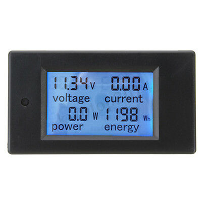 Dc 20a Panel Meter Voltage Current Power Energy Monitor For Car Battery Solar