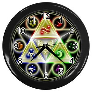 The-Legend-of-Zelda-Triforce-Symbol-Round-Large-wall-clock-Black-Collection-Gift