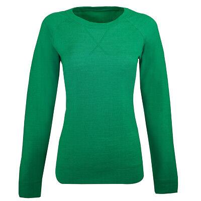 Icebreaker Women's Crave L/S Crewe Shirt Lucky Natural S