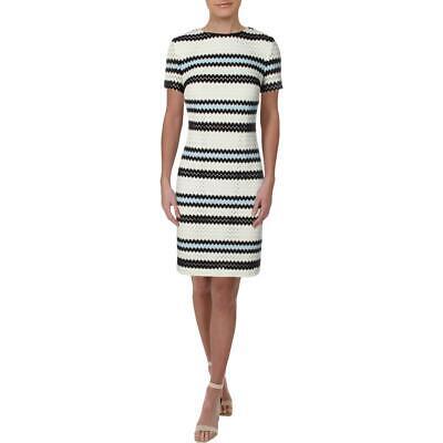 Lauren Ralph Lauren Womens Atsu Chevron Striped Crewneck Shift Dress BHFO 2231