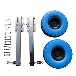Stainless Steel Boat Transom Launching Wheel Dolly For Inflatable boat