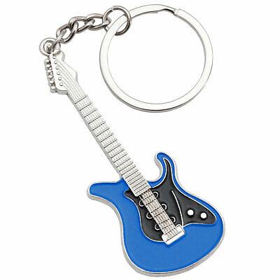 Keepdrum Llavero Guitarra Eléctrica de Metal Azul