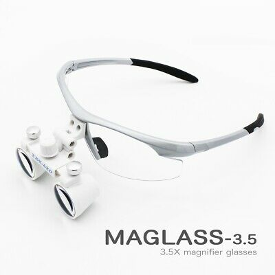 3.5x Magnification Binocular Dental Loupe Surgery Surgical Magnifier With Led