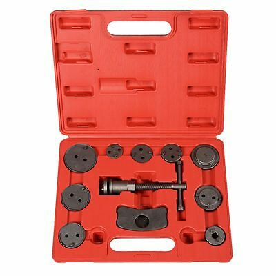 (TUniversal 12 PCS Disc Brake Piston Caliper Rewind Back Tool Kit Automotive Tool)