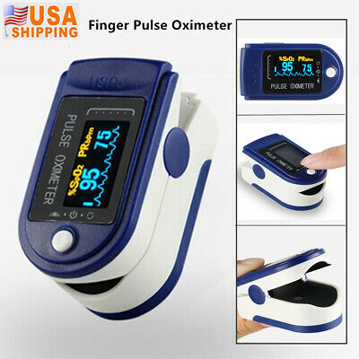 New Finger Digital Pulse Oximeter Blood Oxygen Spo2 Monitor Pr Heart Rate Meter