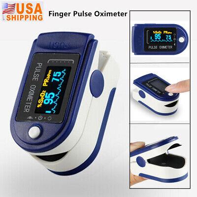 New Finger Digital Pulse Oximeter Blood Oxygen Spo2 Monitor Pr Heart Rate Meter