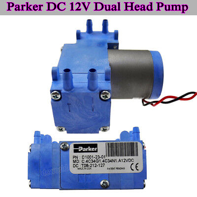 Parker DC12V D1001-23-01 Brushless Vacuum Pump Diaphragm Pump Dual Head Air Pump