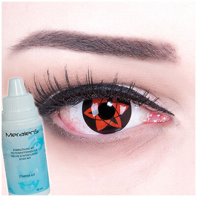 Farbige Fun Crazy Kontaktlinsen Sasuke Mangekyu Sharingan Naruto Anime - Naruto Halloween