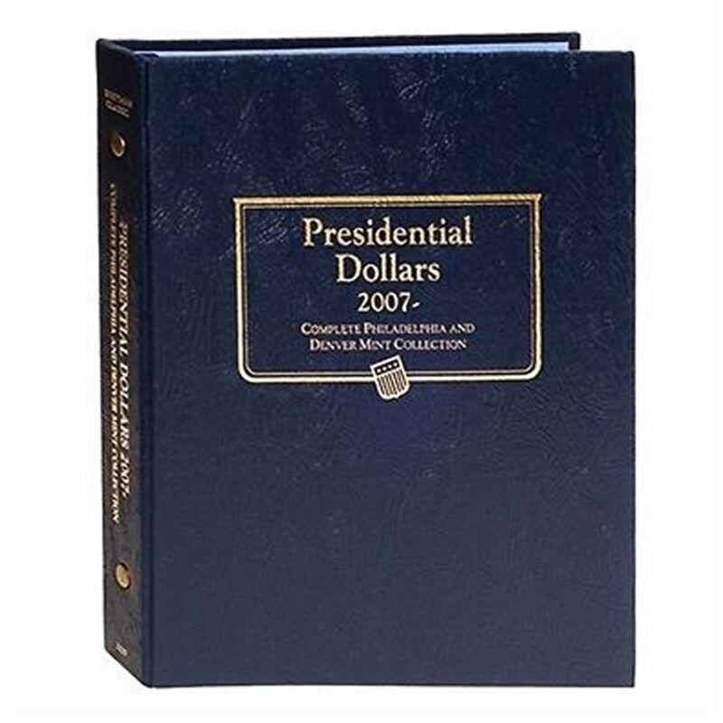 Whitman Classic Coin Album 2227 Presidential Dollars $ 2007-2016 P&D Mints  Book
