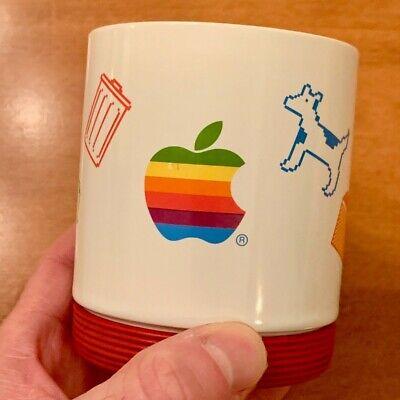 RARE Vintage Apple Computer Mug w/ Dogcow, Macintosh Lisa Icons, Steve Jobs Era