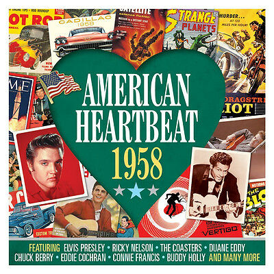 American Heartbeat 1958 VARIOUS ARTISTS Best Of 50 Classic Songs MUSIC New 2