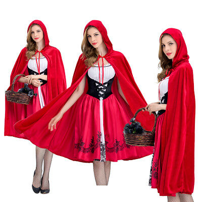 Halloween Little Red Riding Hood Casual Party Fancy Dress Adult Women Costume US