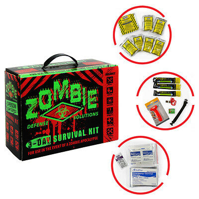 Zombie Defense 3-Day Survival Kit Walking Dead Disaster Emergency Relief Bug Out