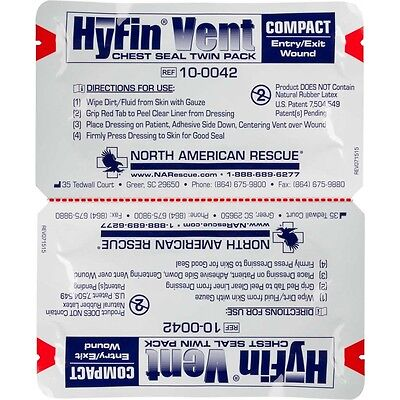 - HYFIN VENT COMPACT CHEST SEAL TWIN-PACK Authorized Distributor Latest EXP