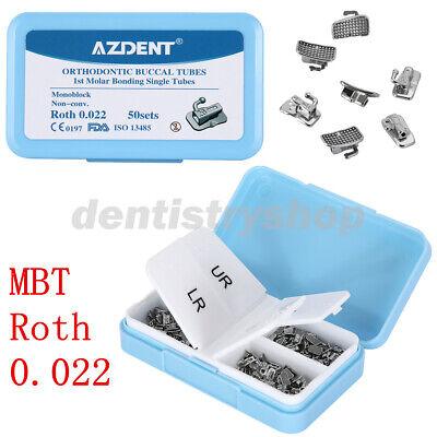 200pcs Azdent Dental Orthodontic Monoblock Buccal Tubes 1st Molar Mbtroth 0.022