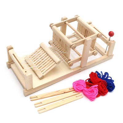 Chinese Traditional Wooden Table Weaving Loom knitting Machine Model Craft Gift