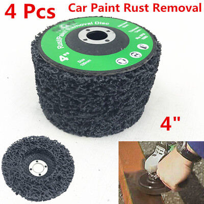 Universal 4X Poly Strip Disc Car Paint Rust Removal Clean Grinder Wheel 46 Grit