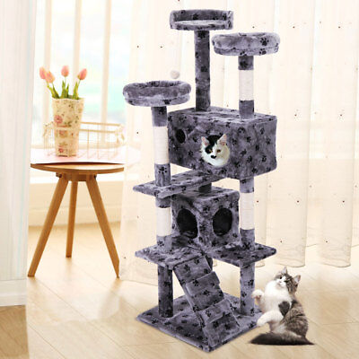 Cat Tree 60  Tower Condo Furniture Scratching Post Pet Kitty Play House