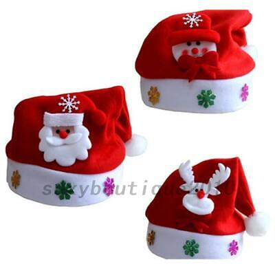 Xmas Christmas Santa Reindeer Snowman Cap Hat Party Headgear
