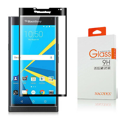 Nacodex [Wholly Coverage] Tempered Glass Screen Protector For BlackBerry Priv