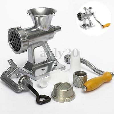 New Meat Grinder Mincer Manual Kitchen Hand Sausage Stuffer Heavy Duty Cast Iron