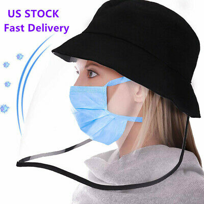 1pc Anti-spitting Protective Cap Face Cover Fisherman Hat + Shield Removable