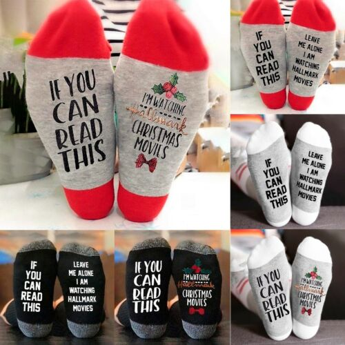 Funny Women Men Christmas Cotton Socks Winter Warm Hosiery S