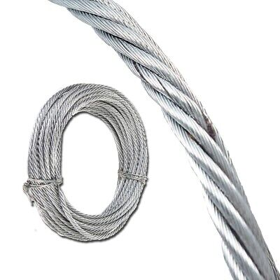 4x QUALITY WIRE ROPES 10m Gardening Strong Galvanised Metal Cable Fencing 6mm