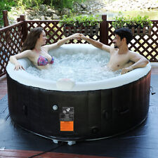 Goplus Portable Inflatable Bubble Massage Spa Hot Tub 4 Person Relaxing