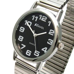 Men's Quartz Watch by Ravel with Expanding Bracelet Silvertone 07