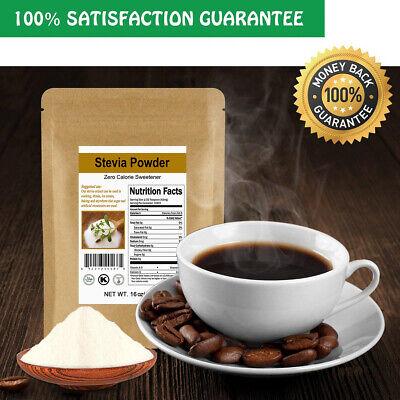 CCnatrure Stevia Powder Extract Natural Sweetener Zero Calorie Sugar 2/4/8/16 OZ