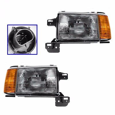 FLEETWOOD DISCOVERY 1996 1997 1998 HEADLIGHTS FRONT HEAD LAMPS - PAIR