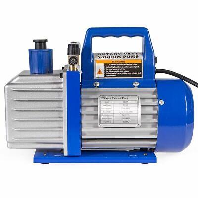Vacuum Pump 2-stage 5 Cfm 12hp Rotary Vane Deep Hvac R410a R134 W Oil Bottle