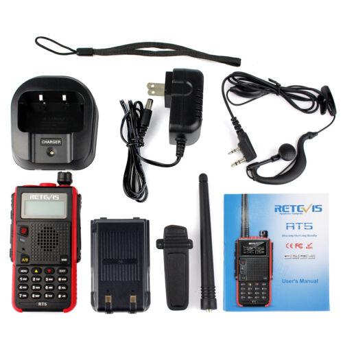 Retevis RT5 Walkie Talkie 128CH UHF 2500 VHF 2Way Radio/&Handheld Speaker Mic
