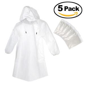 5x Regenbekleidung Regen Mantel Einweg Regencape Regenponcho Regenjacke Camping
