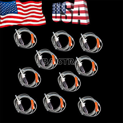 10 Pack Dental Implant Surgery Irrigation Disposable Tube B-ii 280cm Fit Nouvag