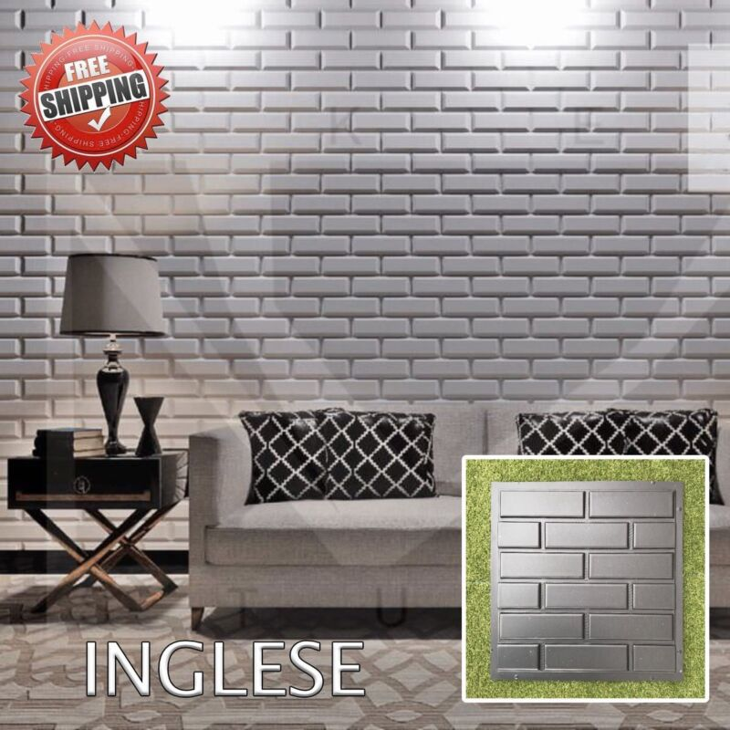 *square* 3d Decorative Wall Panels 1 Pcs Abs Plastic Mold For Plaster By Scientific Process Light Equipment & Tools Business & Industrial