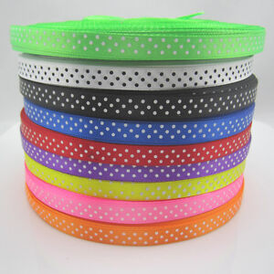 10-Yards-3-8-034-9mm-Bulk-Polka-Dot-Ribbon-Satin-Craft-Supplies-crafts-U-pick-color